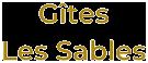 Gîtes Les Sables dans le Bugey, dans l'Ain Logo